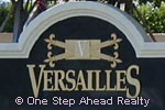 Versailles community sign